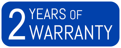 Manufacturing warranty: 2 years