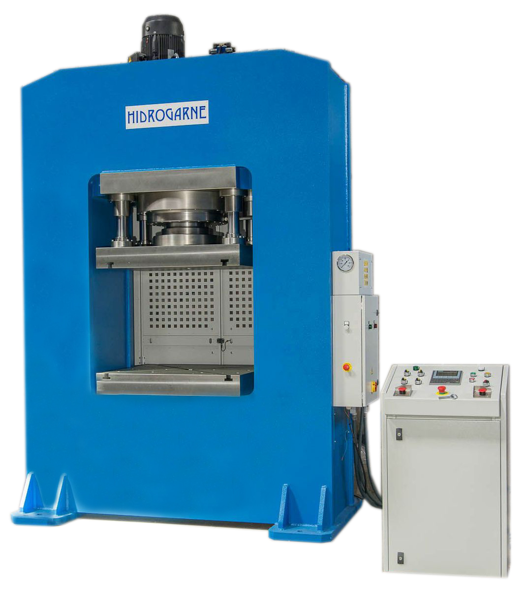 Motorized hydraulic presses with a solid-arch monoblock: R series RM 500- E