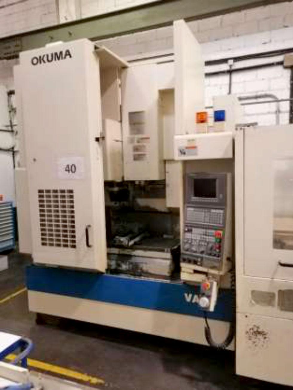 Centro de mecanizado OKUMA MX 45VA doble palet de ocasión