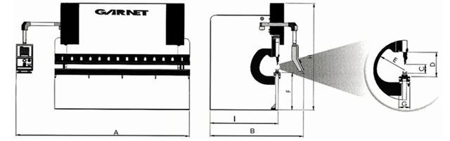 Crokis plegadoras hidráulicas - Modelos EPS CNC