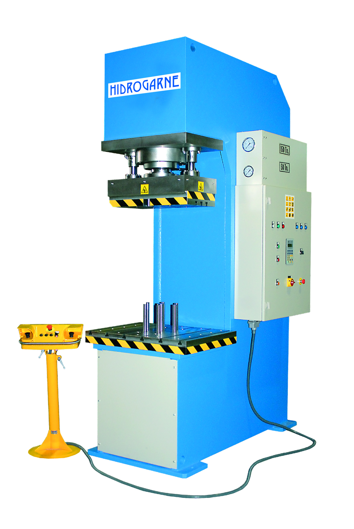 C-frame motorized hydraulic presses: CM series CM-150 E