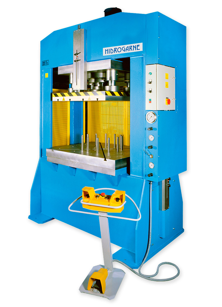 Special hydraulic press for deep-drawing works
