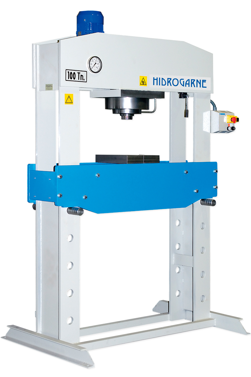 Motorized hydraulic presses with double stanchions S series mod. SD-100