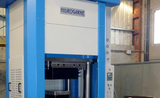 New adaptation of the HIDROGARNE MV-600E model hydraulic press for stamping in aeronautical sector
