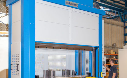 New adaptation of the HIDROGARNE MV-250E model hydraulic press to perform work involving deep-drawing