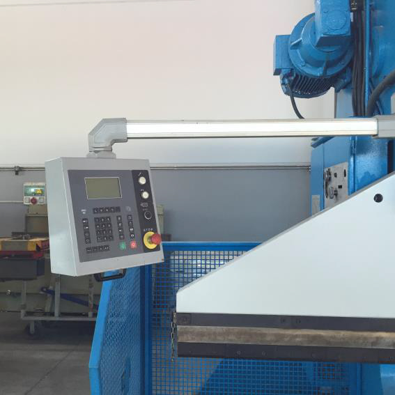Used and revised conventional hydraulic AJIAL press brake with CNC