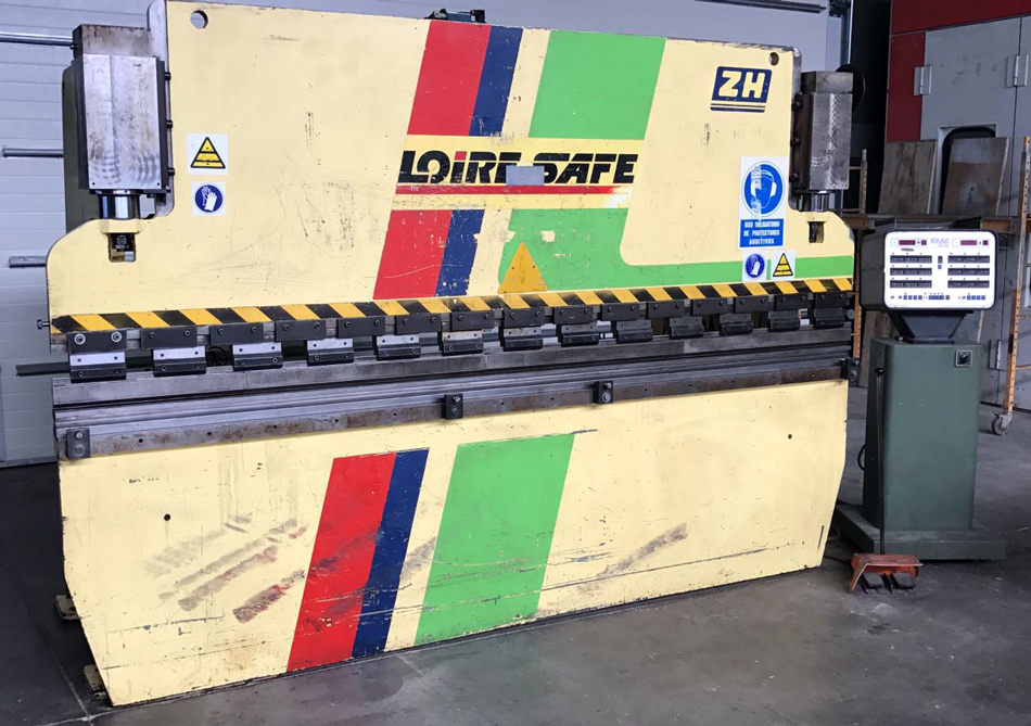 Revised hydraulic press brake LOIRE-SAFE