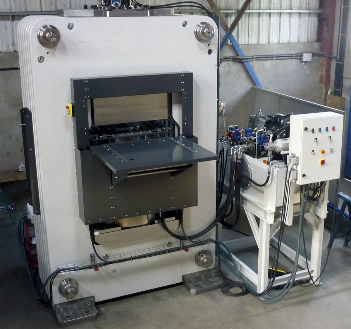 Special rigid arch by segments hydraulic press for elastic-define works RV-2000E