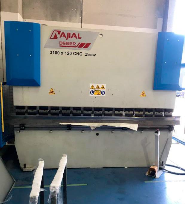 Plegadora sincro-electrónica AJIAL 3 ejes CNC modelo DNC-1230 de ocasión