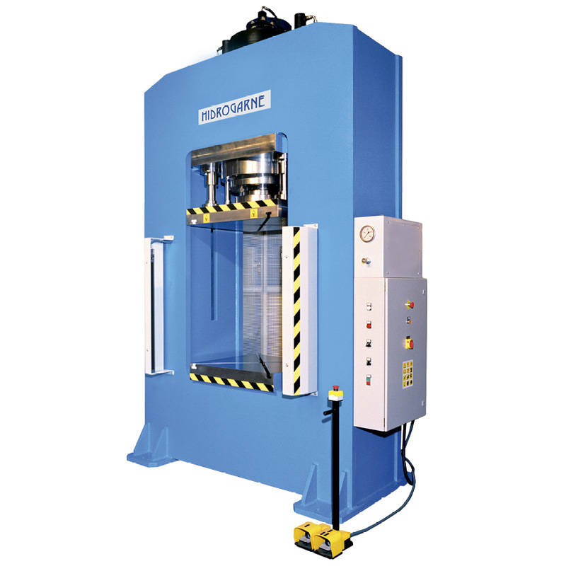 Motorized hydraulic presses with a solid-arch monoblock: R series