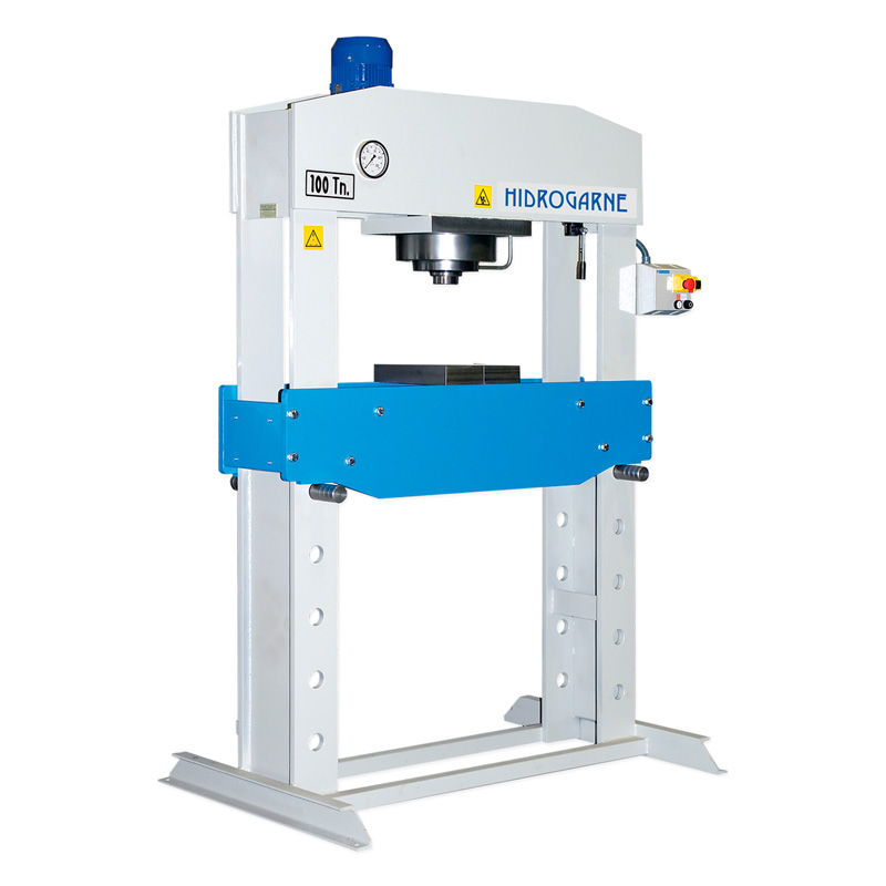 Motorized workshop presses with double stanchions S series