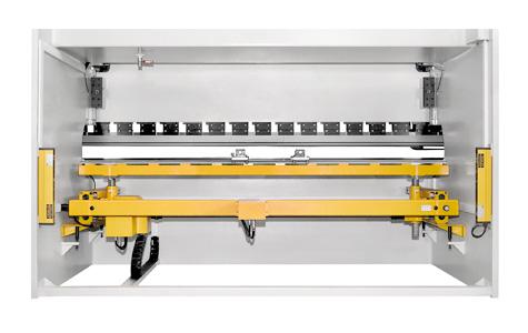 Vista posterior Plegadora hidráulica - Modelo EPR CNC
