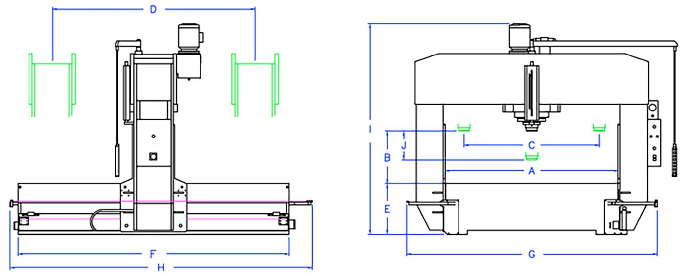 Esquema prensa hidráulica serie T