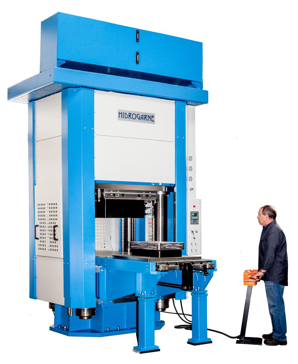 Prensa hidráulica especial MV-600 E para elastoconformado